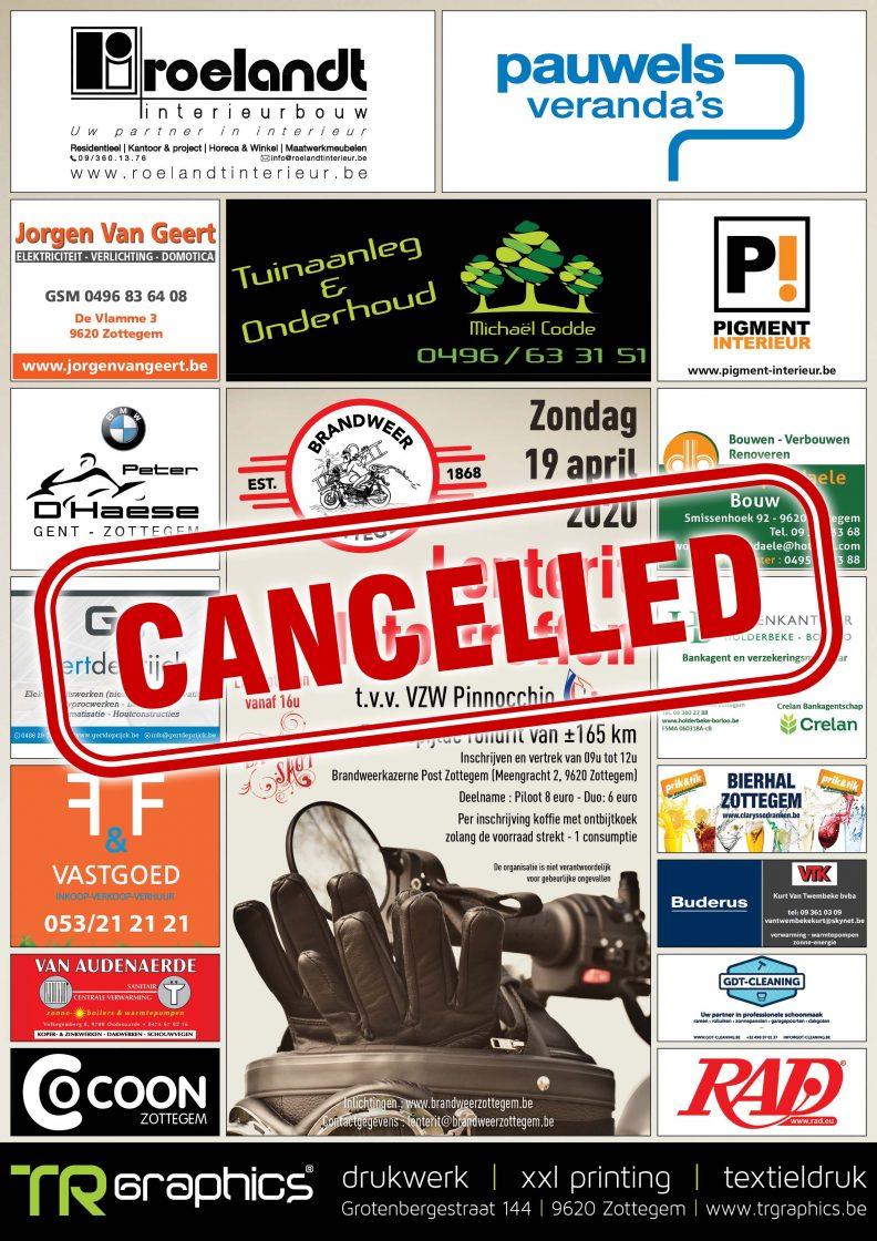 Affiche Lenterit BW Zottegem 2020 Cancelled